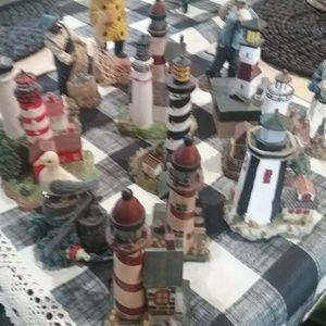 small lighthouses and sea captains
